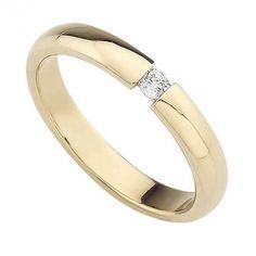 oro amarillo pulido con diamante