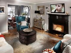 Contemporary Living - Elegant Gray Living Room on HGTV