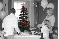 It's a girl! Christmas tree light gender reveal!!