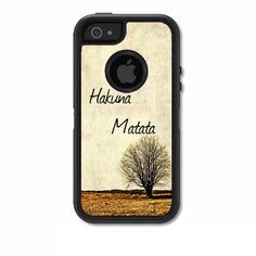 Skin FOR the OtterBox Defender Case for iPhone 5 or 5S - Hakuna Matata on A lone Tree Design - Free Shipping - OtterBox Case NOT included by ItsASkin on Etsy