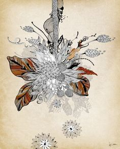 VINTAGE BOUQUET - Posters that Stick (adhesive wall art stickers) at Wheatpaste Art Collective
