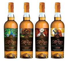 The four Icons of Arran .... Gotta love these whisky labels