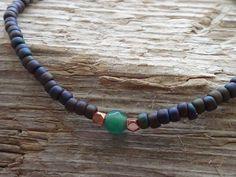 Green aventurine bracelet for men by DESERTDUSTMEN on Etsy