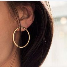 Round Circle Studs Earrings