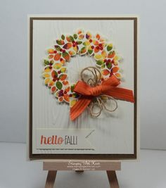 Stampin Up Wondrous Wreath , For All Things card by Kristi @ www.stampingwithkristi.com