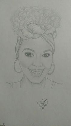 Desenho realista Auto retrato.