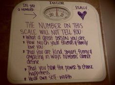 I could use this but I know someone VERY special who, if she cannot throw out her scale, needs to do this!!!