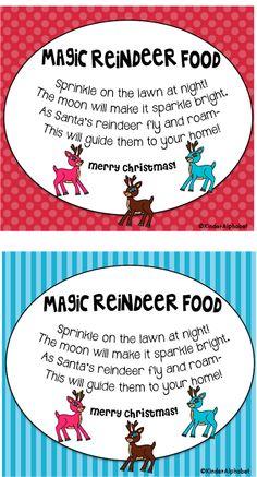 Freebielicious: Magic Reindeer Food Labels