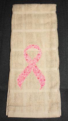 Breast Cancer Awareness Ribbon Kitchen hand by SkidzWifeCreations, $6.00