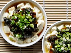 Tofu with Century Egg and Spring Onions | Hong Kong Food Blog with Recipes, Cooking Tips mostly of Chinese and Asian styles | Taste Hong Kong