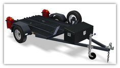 Motorbike Trailer PLANS for 3 bikes - Build your own Motorbike Trailer  www.trailerplans.com.au