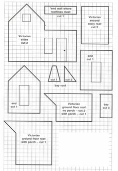 victorian- gingerbread house blueprint:                                                                                                                                                                                 More