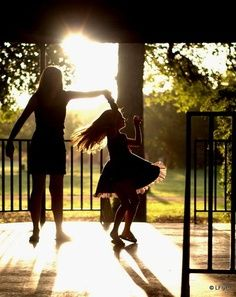Love the memories of my oldest daughter & i dancing together, her beautiful, red curls bouncing everywhere...endless laughter...great times, me and my girl!