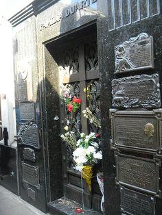 Evita Peron's final resting place in Ar Buenos Aires' Recoleta Cemetery.
