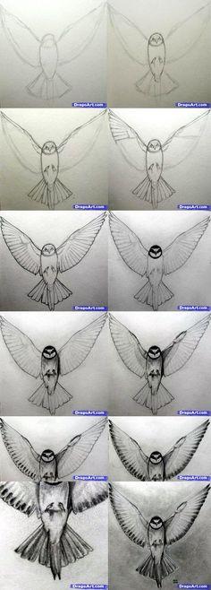 Hoe je een realistische vogel tekent
