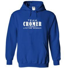 (Tshirt Suggest Discount) Team CROMER Lifetime member Shirt design 2016 Hoodies Tees Shirts