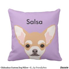 Chihuahua Custom Dog Pillow - Cute Gift Follow the link to see this product on Zazzle! @zazzle #dog #dogs #dogstuff #dogpin #pet #pets #animals #animal #fun #buy #shop #shopping #sale #gift #dogowner #dogmom #dogdad #apartment #apartmentgoals #apartmenttherapy #home #decor #homedecor #bedroom #apartmenttherapy #throw #pillows #throwpillows #pillow