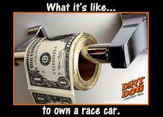 So true.... More like $100's though not dollar bills. Love it.
