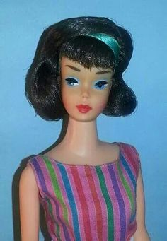 Beautiful Japanese midnight side part American Girl Barbie from the collection of Russell Gandy.