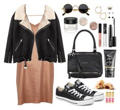 A fashion look from October 2016 featuring cami dresses, zipper jacket and lace up shoes. Browse and shop related looks. Givenchy, Gucci, Off Duty, Lace Up Shoes, Acne Studios, Nars Cosmetics, Juicy Couture, River Island, Mac