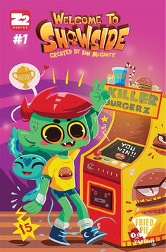 Welcome to Showside Erin Hunting Fried Pie Variant Cover Books A Million, Fried Pies, Hunting Art, Mystic Messenger, Comic Book Covers, A Comics, Welcome, Nerd, Animation