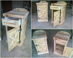#BedsideTable, #Drawer, #RecycledPallet