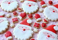 Smiling Santa Cookies by Munchkin Munchies.