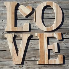 Just showing a little love :) Woodworking Jigs, Woodworking Projects, Wood Pallets, Pallet Wood, Wedding Letters, Urban Decor, Wood Letters, Modern Country, Old Wood