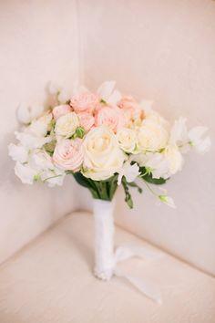 Paris pale pink bridal bouquet