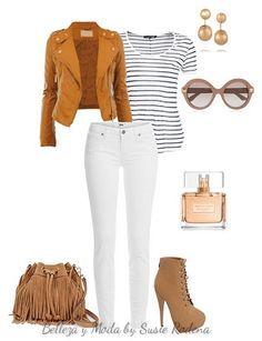 ¿Cómo combinar jeans blancos? Outfit 4                                                                                                                                                                                 Más