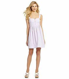 Jessica Simpson Striped ZipFront Dress #Dillards