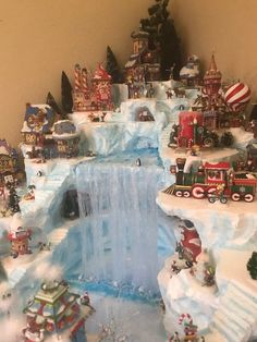 Welcome to and Main custom village displays. This listing is here to get you started on a custom display landscape that I (Nichole) will design and build for your collection of Department 56 or Lemax (or any other companys) collectible miniature Chris Christmas Town, Christmas Villages, Noel Christmas, Christmas Crafts, Christmas Decorations, Holiday Decor, Christmas Mantles, Vintage Christmas, Victorian Christmas