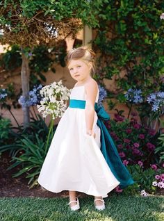 flower girl dress- bow is a little too big kristinr26