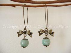 Boucles d'oreilles , Boucles d'oreilles avec amazonite est une création orginale de Le-Comptoir-de-Florie sur DaWanda