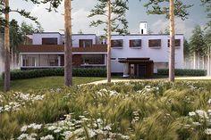 Digital remake of Alvar Aalto's Villa Mairea Alvar Aalto, Villa, Behance, Doors, Outdoor Decor, Home Decor, Decoration Home, Room Decor, Home Interior Design