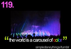 the world is a carousel of color