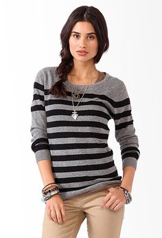 Striped Colorblocked Sweater   FOREVER 21 - 2031557306