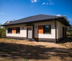 Realizacje - Balker - Producent domów prefabrykowanych. Domy z keramzytu A Frame House Plans, Metal Roof, Decoration, Gazebo, Outdoor Structures, Outdoor Decor, Home Decor, Houses, Living Room