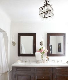 Elegant- love the chandelier