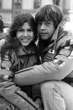 Star Wars Empire Strikes Back • Carrie Fisher and Mark Hamill... Awww. That's the face I feel in love with as a kid.