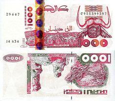 ARGELIA - 1000 DINARES 1998 #banknote #argel