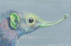 Curious Creatures, Canvas Prints, Oil, Digital, Friends, Paper, Frame, Handmade Gifts, Artwork