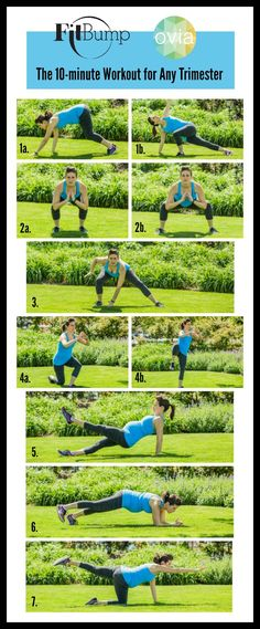 Got 10 minutes? We know you do! You can squeeze this in any time of the day or add it on to a preexisting cardio workout. These exercises are modifiable for any stage of your pregnancy and you can amp up or tone down the intensity as needed. Set your watch and get started! 5, 4, 3, 2, 1…. #Ovuline