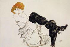 Woman in Black Stockings (1913)