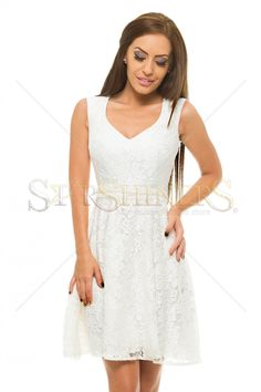 StarShinerS Beautify White Dress Clothing Items, Cold Shoulder Dress, White Dress, Elegant, Lace, How To Wear, Outfits, Clothes, Collection