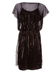 Aftershock Black Mesh Sequin Dress - 187,19 €