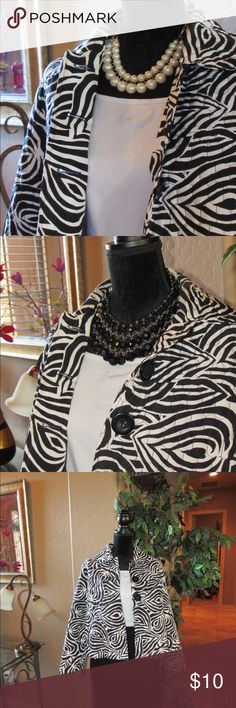 I just added this listing on Poshmark: Black and white quilted jacket. #shopmycloset #poshmark #fashion #shopping #style #forsale #Requirements #Jackets & Blazers