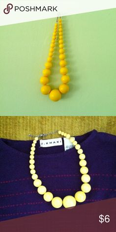 CHUNKY YELLOW NECKLACE This necklace is so fun! It's lightweight so it's easy to wear. It'll brighten up anyone's day! Claire's Jewelry Necklaces