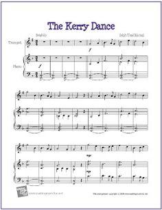 the kerry dance free easy trumpet sheet music digital print