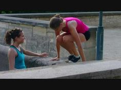 woman Parkour training - start building up muscles and work your way up